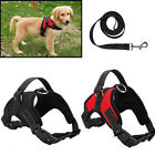 Dog Vest Harness Leash Collar Set No Pull Adjustable For  Daily Training Walking