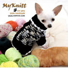 Black and White Dog Sweater Knit Pet Clothes Japan Poodle Shihtzu K851 Myknitt