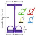 Elastic Resistance Band With Handles 4 Tube Exercise Gym Fitness Sit-up Training