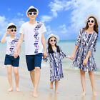 Family Outfits clothing 2018 Summer woman girl dress man boy Sets striped