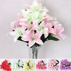 10 Heads Artificial Fake Lily Silk Flowers Home Wedding Decoration Gift