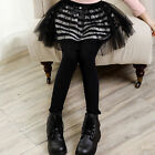 3-13Y spring girls leggings Skirts Striped Lace kids Girl pantskirt culotte New