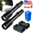 Tactical Police 20000Lumens T6 5Modes LED Flashlight Aluminum Torch Zoomable USA