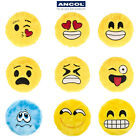 Ancol Emoji Friends Plush Squeaky Dog Toy Flinger Yellow Pink Blue Movie