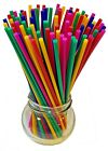 Coloured Plastic Lolly Sticks For Lollipops Cake and Ice Pops Kids Craft & Model