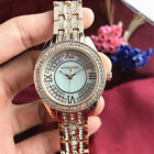Fashion New Floral Shell  Dial Luxury M // K Letter Stainless Steel Lady Watch