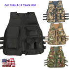 Kids Children Tactical Military Vest Assault Combat Gear Arm