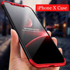 For iPhone 10 X 3 in 1 Ultra-thin Matte Full body Shockproof case cover Defender