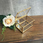 Modern Geometric Glass Jewelry Box Table Succulent Plants Container Decoration