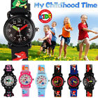 3D Cute Cartoon Silicone Watch Wristwatch Time Teacher For Girl Boy Kids Gift US