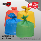 HIGH QUALITY COLOURED RECYCLING SACKS BIN BAGS REFUSE RUBBISH SELECTIVE WASTE