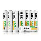 EBL AAA AA Ni-MH Rechargeable Batteries Pack for Camera Flashlights Clocks Toys
