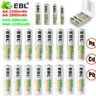 Ebl Lot 2800mah 2300mah 1100mah 800mah Aaa Aa Ni-mh Rechargeable Batteries Us