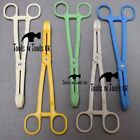 Surgical Piercing Plastic Sponge Forceps Clamps Tweezers Reptiles Feeding Tongs