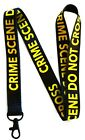 Crime Scene Do Not Cross lanyards key chain with clip for keys or id badges.