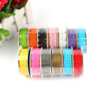 1 Roll Lace Masking Tape DIY Washi Paper Sticky Paper Adhesive Crafts Decorative