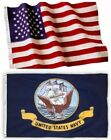 US Navy and American Flag Combination, Made In USA, All Sizes, You Pick
