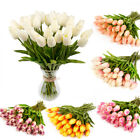 10X Artificial Tulip Fake Flower Silk Bouquet Real Touch Room Home Wedding Decor