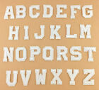 White 26 Alphabet Letter Sew Iron on Patch Embroidered Badge Patches Applique