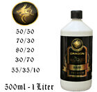 DRAGON E-LIQUID Premium Basis E Liquid Base E-Zigarette Eliquid mischen 0-15mg!!