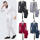 Men Slim Fit Leisure One Button Formal Two-Piece Suit for Groom Wedding Happy