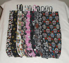 Sugar Skull Design Homemade Fabric Plastic Grocery Bag Holder