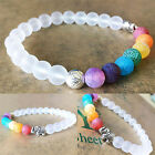7Chakra Elephant Charm Beaded Bracelet Mala Beads Yoga Energy Bracelet Jewelry