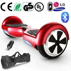 """2 Wheels red CE Self Balancing Hoverboard Electric Balance Scooter 6.5""""Bluetooth"""