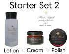 Boot Black Shoe Care Starter Set 2  Conditioner + Cream + Polish - High-End care