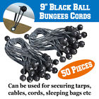 "6"" & 9"" 26/50/100/200pcs Bungee Cords Ball Tie Down Canopy Gazebo Secure Straps"