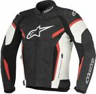 Alpinestars GP Plus R V2 Black White Red Leather Motorcycle Jacket NEW