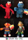 SESAME STREET SOFT PLUSH TOYS- ELMO, COOKIE MONSTER, BERT, ERNIE - LICENCED TOYS