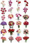 24 Mixed Carnations Flower Large Sticky White Paper Stickers Labels NEW