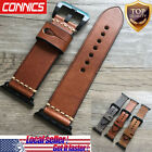 For Apple Watch Series 5 4~1 Luxury Retro Genuine Leather iWatch Band WristStrap image