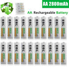 Lot EBL 2800mAh AA Rechargeable Batteries NI-MH Battery For Camera Flashlight US
