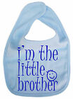 "Baby Brother Bib ""I'm the Little Brother"" New baby Boy feeding Newborn Gift"