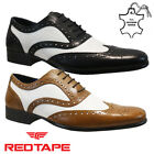 MENS RED TAPE LEATHER GATSBY CASUAL FORMAL SMART WEDDING WORK BROGUE SHOES SIZE