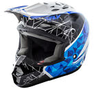 FLY RACING KINETIC CRUX MOTOCROSS HELMET WHITE BLACK BLUE SMALL SM 73-3383S