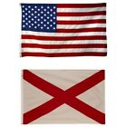 Alabama State and American Flag Combination, Made In USA, All Sizes, You Pick