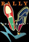 paper shoe template free - Bally 1952 Neon Shoes Vintage Poster Print Fashion Advertisement Free US Post