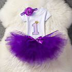 It's My First 1st Birthday Dress Outfits Flower Girl Party Clothes Cake Tutu Set