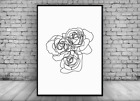 Roses Flowers Illustration Home Decor Wall Print Poster Picture Scandinavian
