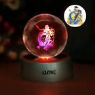 Star Wars Star Trek 3D LED Crystal Night Light Table Lamp Birthday Gift RGB