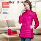 Womens Short 86%-90% Down Ultralight Outerwear Packable Puffer Parka Jacket Coat