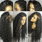Spanish Natural Curly Brazilian Hair Pre- 360 Lace Frontal Wigs 180% Density