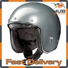 X-Lite X-201 Fresno Open Face Scooter Motorcycle Helmet - Scratched Chrome