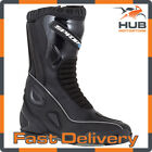 Spada Druid Motorcycle Motorbike Leather Sports Boots - Black