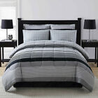 black and white striped comforter twin - Comforter Bed Set 8Pc Black White Bold Striped Pattern Print Silky Soft Material