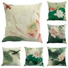 Retro Chinese Lotus Floral Throw Pillow Case Sofa Car Cushion Covers Home Decor