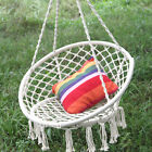 Hanging Cotton Rope Macrame Hammock Relax Chair Swing Outdoor Home Garden 120kg